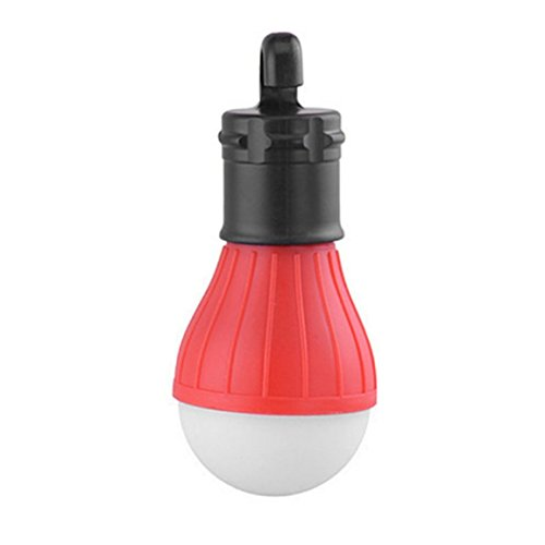MEILUAIMU Lámpara de Camping con Mango Exterior ultrabrillante de 3 LED, Bombilla de plástico para Tienda con Gancho para lámpara para Pesca, Senderismo, iluminación Colgante