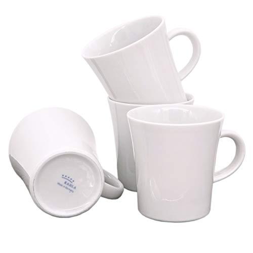 Kahla 32A148A90032C Update Becherset für 4 Personen weiß ohne Dekor Kaffeebecher 4-teilig 300 ml Henkelbecher Porzellanbecher Set Tee Kakao Tassenset