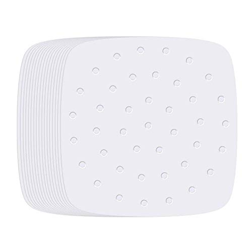 Air Fryer Liners - 7.5 Inches, 100pcs Premium Perforated Parchment Paper Compatible with Philips, Cozyna, Secura, NuWave Brio, Chefman, GoWISE USA, BLACK+DECKER, COSORI and More Air fryers
