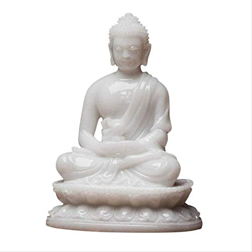 LKXZYX Boda Decoracion Figuras de Grandes Salon candelabros Jardin Exterior Adornos Decorativos, estatuas de Buda talladas, estatuas de Bolas Redondas, mármol Blanco