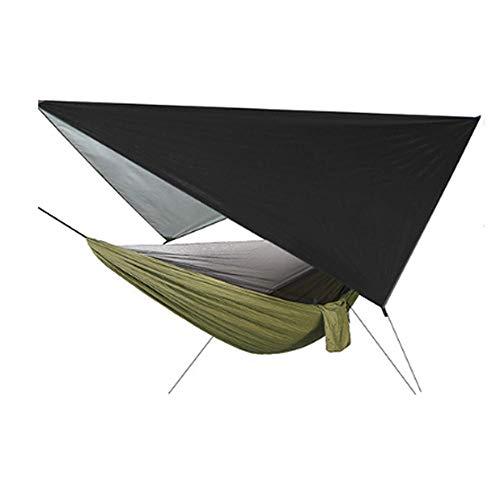 YSCYLY Camping Hangmat, 260 x 140 cm muggennetto hangmat met zonnescherm Sky Screen 420 * 420cm, voor outdoor wandelen reizen backpacking