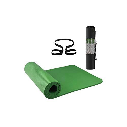 Ensembles de tapis de yoga pour femmes | 72x24IN Tapis de Yoga Antidérapant Fitness Gym Tapis de Sport Tapis D'exercice Pilates Fitness Pilates Tapis De Gymnastique Sac Cadeau Carry Sling-Vert-