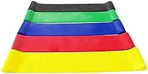 مجموعة حزام مقاومة اللياقة البدنية 5 مستويات مرونة اللاتكس التدريب القوى حلقات المطاط العصابات تجريب اللياقة البدنية