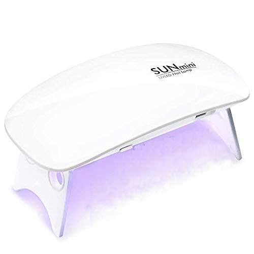 Lámpara LED UV Uñas 6W portátil Secador de Uñas para Unas de Gel manicura Shellac Gel Esmalte de Uñas Manicura Pedicure