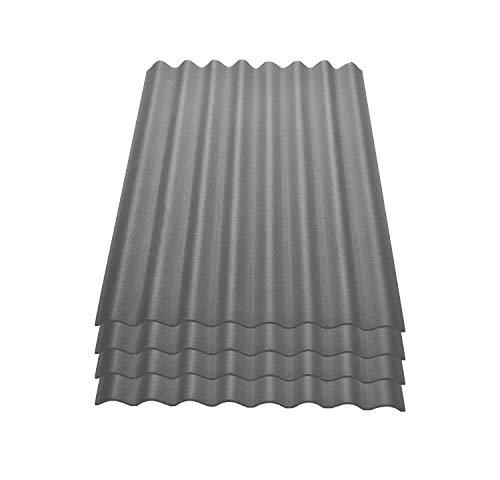 8 Stück 1000 x 750 mm Bitumenwellplatten Set braun Compact