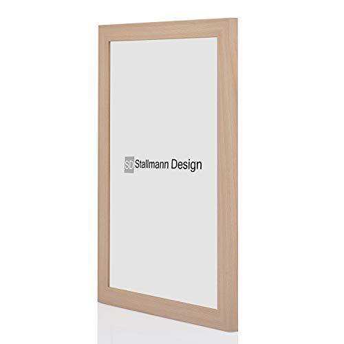 Stallmann Design Bilderrahmen New Modern DIN a4 21x29,7 cm buche Rahmen Fuer Dina 4 und 60 andere Formate Fotorahmen Wechselrahmen aus Holz MDF mehrere Farben wählbar Frame für Foto oder Bilder