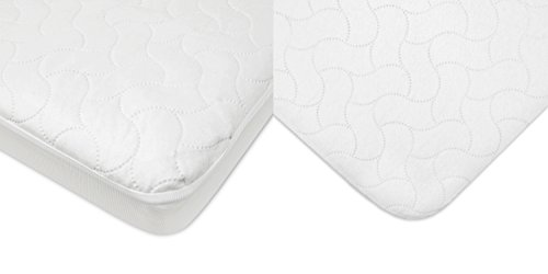 American Baby Company Waterproof Crib Mattress Protection Combo