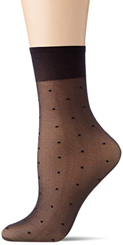 Nur Die Damen Söckchen Seidenpunkt Socken, schwarz Punkte, normal