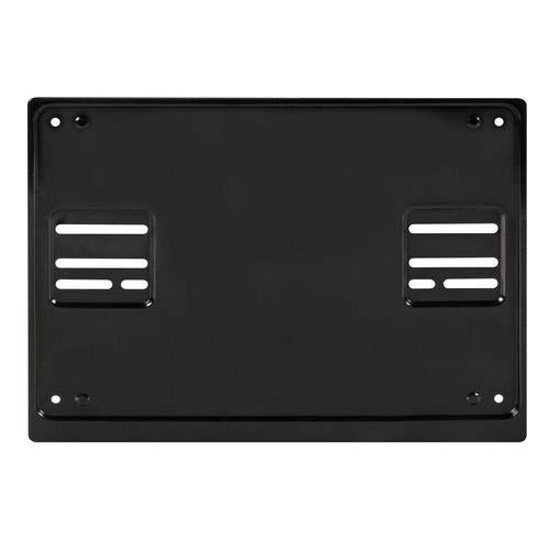 Soporte de placa de matrícula trasera cuadrada de acero negro 4 x 4