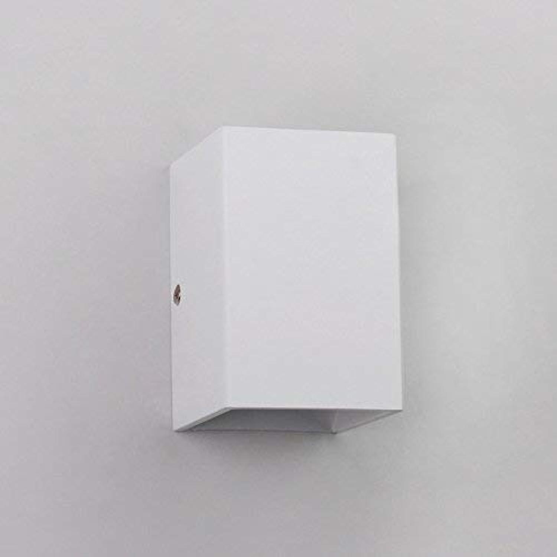 ATR Moderne Wandleuchten führten die einfache und quadratische kreative obere und untere leuchtende Schlafzimmer-Aluminiumwandlampe