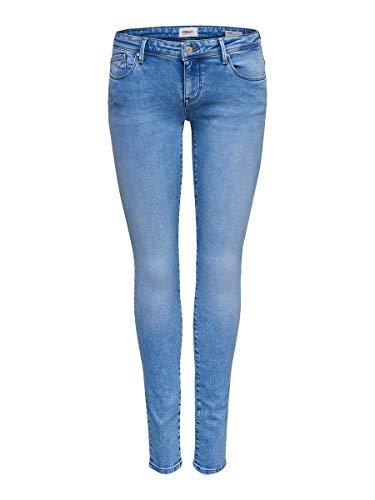 ONLY Damen Skinny Fit Jeans Coral sl 2832Light Blue Denim