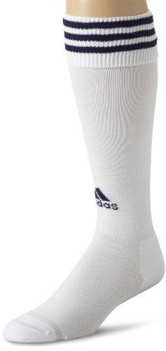 adidas Copa Calcetines de cojín de Zona, Mujer niña Niños Hombre, Color Blanco y Azul Marino, tamaño Small Fits Youth Shoe Size 13C-4Y