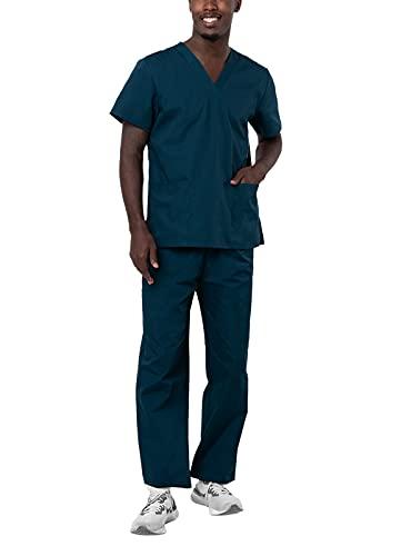 Adar Universal Divise sanitarie Unisex - Divise ospedaliere con Cordoncino - 701 - Caribbean Blue - XS