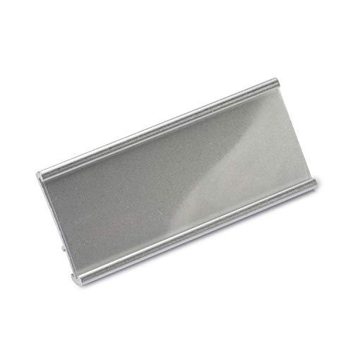 Aluminium Namensschilder Komplettset silber magnetisch 10 Stück zum Anstecken an Kleidung Schild zum Bedrucken mit 3-Punkt Magnet, Magnetnamensschild Namensschilder Magnet 70x30mm