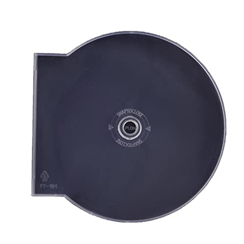 MYBOON 50 Piezas Estuches para CDs Diseño Redondo Plástico Blanco Transparente 4.72'Diámetro DVDs Caja de CDs Blanco Transparente