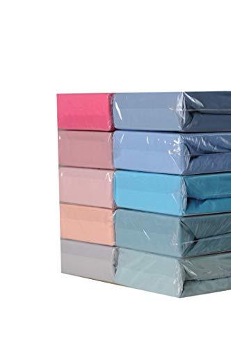 YACOR Sábana bajera ajustable con funda de almohada 100% algodón (Turkis, 160 x 200 cm + 30 cm)