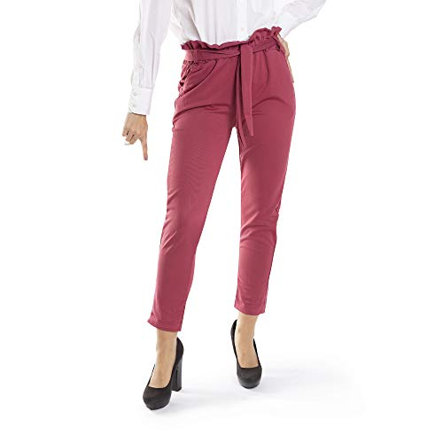 Trendcool. Leggins Mujer Vestir. Leggins para Mujer. Pantalones Elegantes Mujer. Cómodos Leggins Largos para Mujer. Lazo Morado. (M13, M/L)
