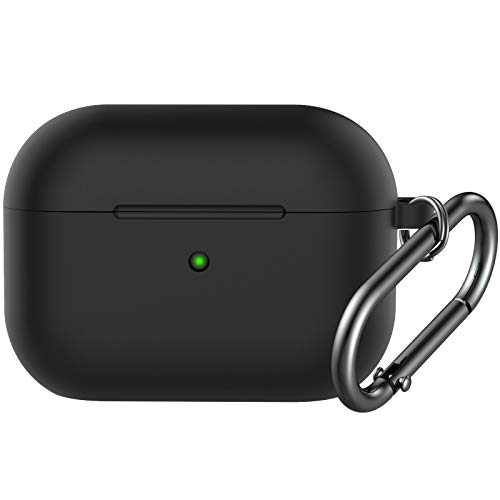 BRG Compatible with Airpods Pro Case,Soft Silicone Skin Case Cover Shock-Absorbing Protective Case with Keychain [Front LED Visible]