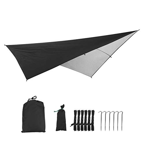 Mdsfe Waterproof Anit-UV Outdoor Awning Multifunctional Camping Picnic Beach Mat Awning Canopy Garden Tent Shade Tent 290 * 290cm-03,A5