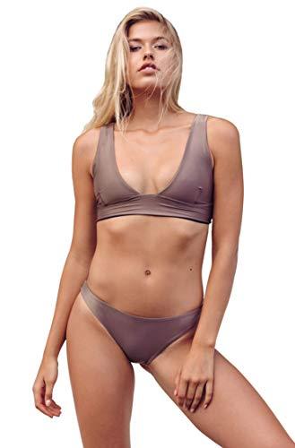 Haight Swimwear Multi Strap Bikini in Taupe (Large)