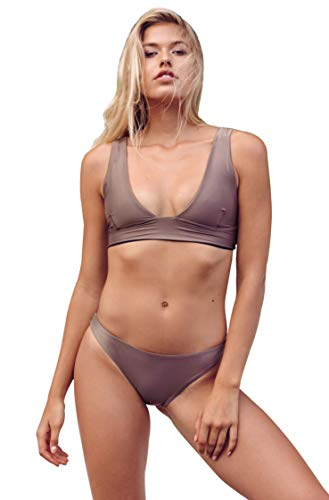 Haight Swimwear Multi Strap Bikini in Taupe (Large)