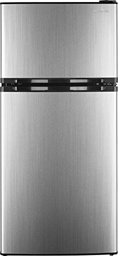 4.3 Cu. Ft. Top-Freezer Refrigerator - Stainless steel