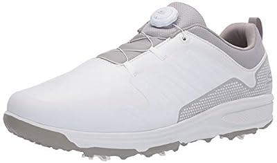 Skechers Men's Torque Twist Waterproof Golf Shoe, White/Gray, 13 W US
