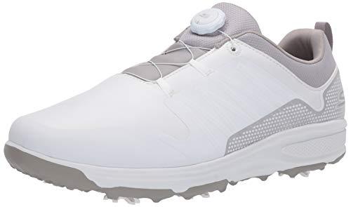 Skechers mens Torque Twist Waterproof Golf Shoe, White/Gray, 10.5 US