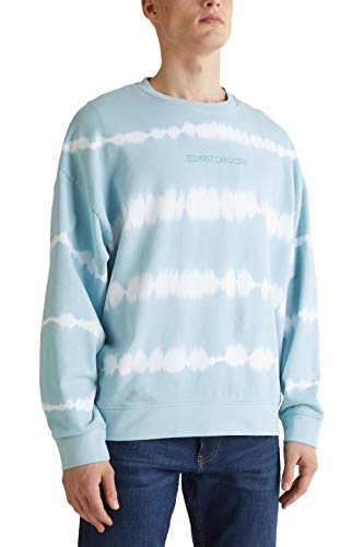 edc by ESPRIT Herren 030CC2J304 Sweatshirt, 443/LIGHT Blue 4, XL