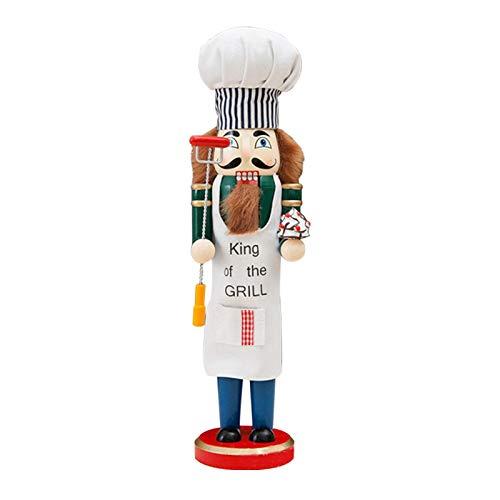Canghai - Schiaccianoci in legno, altezza 38 cm, statuetta da chef Schiaccianoci da collezione, ideale come regalo di Natale