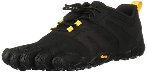 Vibram Women's V 2.0 Trail Running Shoe, Black/Yellow, 37 B EU (37 EU/7.0-7.5 M US B EU US)
