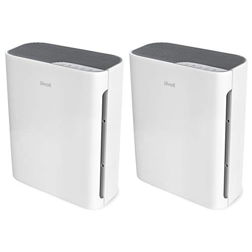 LEVOIT Air Purifier for Home with H13 True HEPA Filter, Cleaner for Allergies and Pets, Smokers, Mold, Pollen, Dust, Quiet Odor Eliminators for Bedroom, Vital 100, 2 Pack, White, 2-Pack
