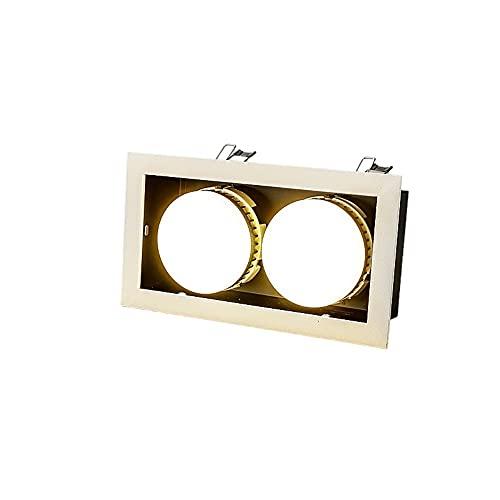 Luz de trabajo Cabeza doble cuadrada creativa DIRIGIÓ Downlight incrustado ajustable CRI85 LED Panel de techo empotrado Luz fregatoria desmontable anti-corrosión decoración empotrada iluminación de il