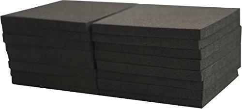 XCEL Closed Cell Foam Rubber Antivibration, Acoustic Damper 3' X 3' Furniture Pad 16 Pieces