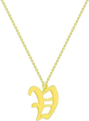 banbeitaotao Collar, Collar, Collar, Simple, 26 Letras, Inicial, Collar de Mujer, Nombre, st Acero, Novia, Cadena étnica, Collares