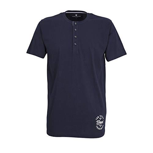 TOM TAILOR Herren T-Shirt blau Uni 1er Pack 50