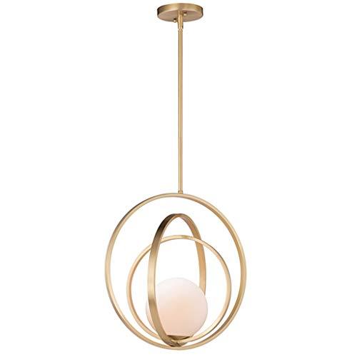 Lámpara LED de techo / araña individual de cristal principal - Moderna lámpara minimalista para comedor, salón, dormitorio, mesita de noche, nivel de energía [A ++] (color: blanco light)
