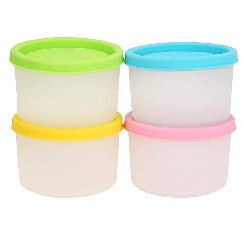 MISLD Set van 4 Baby voedsel opslag containers kleine herbruikbare siliconen spenen vriezer potten potten Juice Cups BPA gratis Kids Snacks Lunch Container met lekvrije deksels