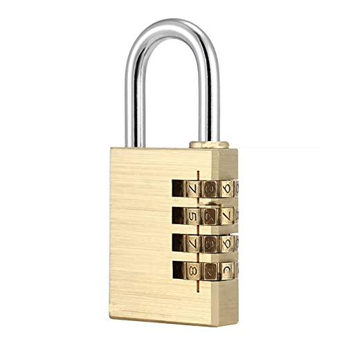 Todo el cobre de 4 dígitos código de bloqueo, maleta gimnasio Locker antirrobo mini candado