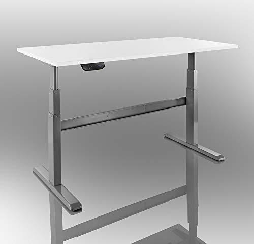 celexon elektrisch höhenverstellbarer Schreibtisch Professional eAdjust-65120G - Grau - Höhe: 65-120cm - inkl. Tischplatte 175x75cm