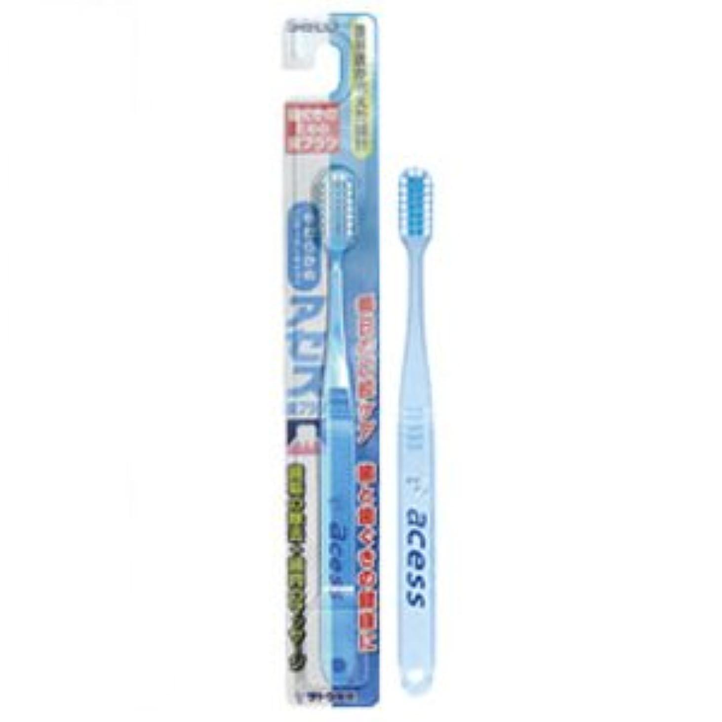 丁寧鈍いハウジングアセス歯ブラシ やわらかめ(レギュラータイプ) ブルー 12本