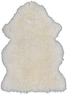Sheepskin Carpet, White Handmade Wool Blanket