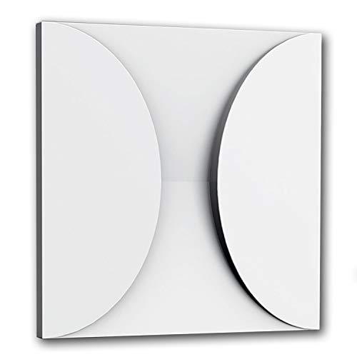 3d revestimiento mural Orac Decor W107 MODERN CIRCLE Panel de pared Elemento decorativo diseño moderno blanco