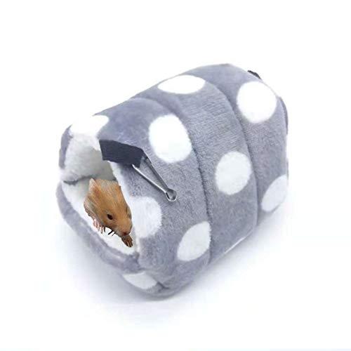 Oncpcare - Cama de invierno cálida para animales pequeños, ideal para hámsteres, pájaros, jerbos, cobayas, hurones o erizos, con ganchos para colgar