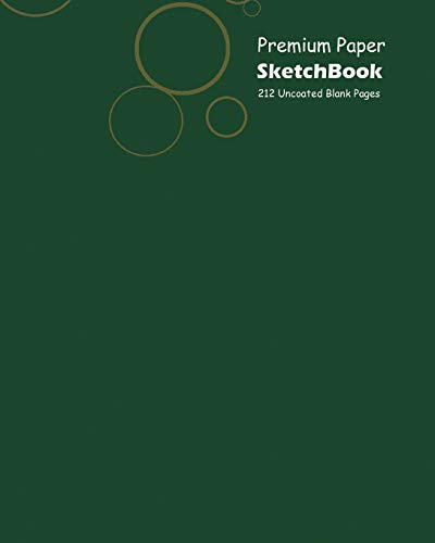 Premium Paper Sketchbook Large 8 x 10 Inch, 100 Sheets Green Cover