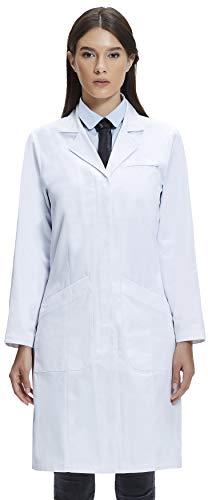 Dr. James Bata de Laboratorio Mujer, 100% Algodón Corte Clásico, Varios Bolsillos (32 (XS))
