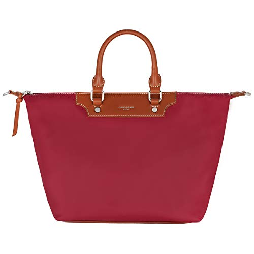 David Jones - Damen Tote Shopper Nylon Wasserdichte Handtasche - Tragetasche Schultertasche - Shopping Bag Große Kapazität - Umhängetasche Schultertasche - Elegant Mode Casual Arbeit Reise - Rot