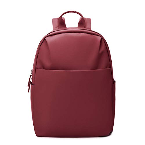 PKCABBackpack female casual bag ins wind travel simple nylon backpack small fresh@Jujube red
