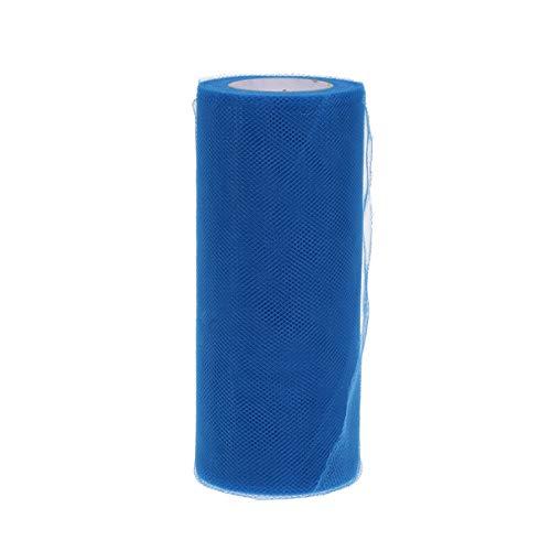 jojofuny 1 Rollo de Carrete de Tul para Coser Tutú de Boda Y Decoración de Falda de Mesa 6 Pulgadas (Azul Oscuro)