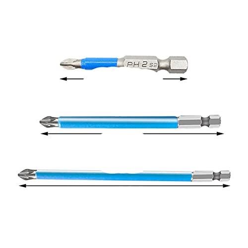 PH2 Cross Bit Drill Head Set Hex Shank Magnético Se adapta a puntas de destornillador eléctrico Puntas métricas de viento lotes cabeza herramienta eléctrica-China, 50 70 90mm
